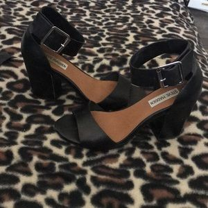 Steve Madden Black Leather Estoria